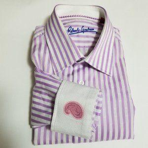 Robert Graham Dress Shirt w/ Paisley Flip Cuffs